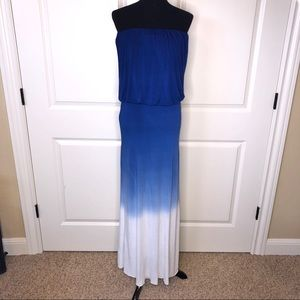 Young Fabulous & Broke Strapless Ombré Maxi Dress